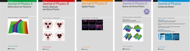 The Journal of Physics series from IOP Publishing
