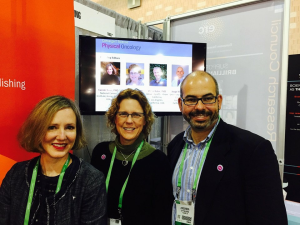 Meet the Editors: Carole Baas, Kelly Bethel and Jorge Nieva at the AACR meeting in Philadelphia