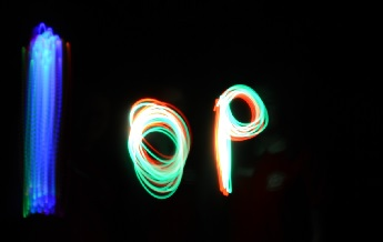 "IOP Logo from ""Painting with Light"" at Stocksbridge Science Day © Institute of Physics"