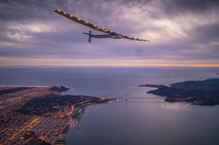 Solar Impulse landing in Mountain View, California, United States of America