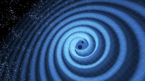 artists impression of gravitational waves