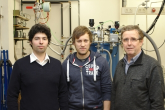 Figure 2: from left to right: Arash Rahimi-Iman, Jan Kuhnert, Wolfram Heimbrodt